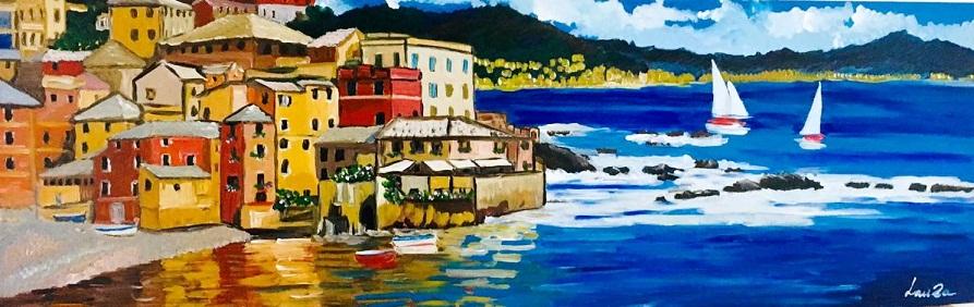 La fantasmagoria dei colori nei paesaggi marini di Luisa ...