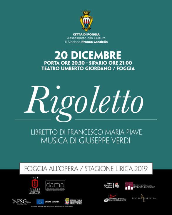 Teatro Giordano - 20 dicembre - RIGOLETTO