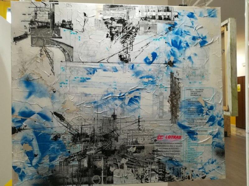 Treni e binari in un calendario d'autore, la Lotras si riempie di colore con Francesco Barbieri