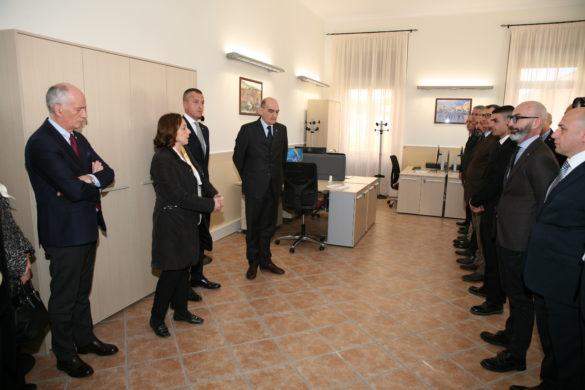 """La Ministra Lamorgese inaugura la Dia a Foggia: """"Il segnale più concreto dello Stato per l'esercizio del diritto della libertà"""""""