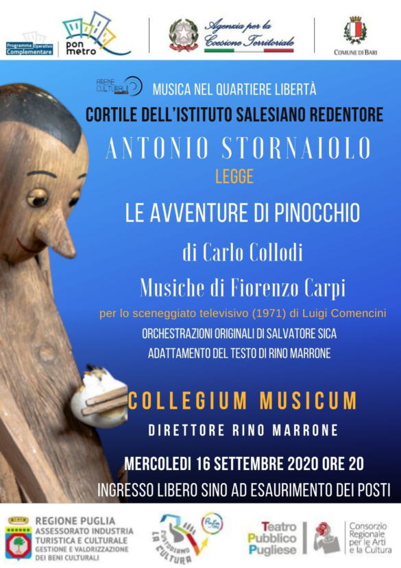 Le avventure di Pinocchio, il Collegium Musicum torna in concerto, con le musiche di Fiorenzo Carpi scritte per lo sceneggiato televisivo di Comencini