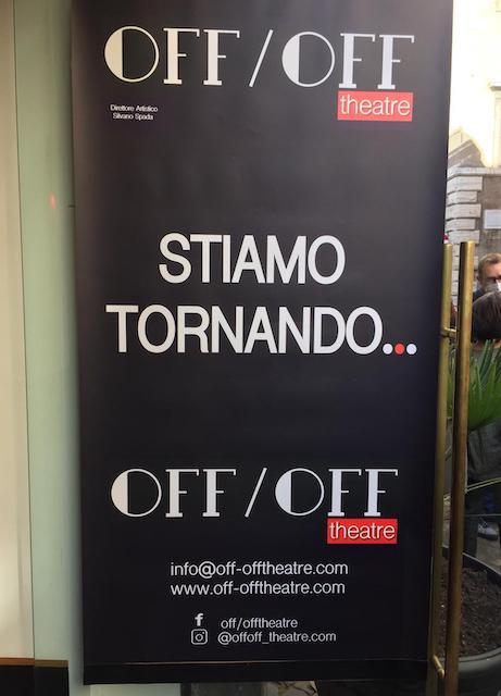 """""""Andare avanti"""": con un cartellone straordinario e molta prudenza riparte il Teatro Off/Off di via Giulia"""